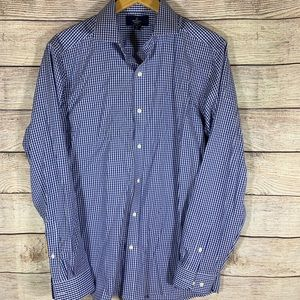 Buttoned Down Brand fitted no iron blue and tan